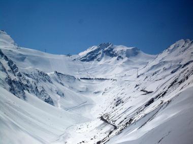 Zima v rakouském Söldenu