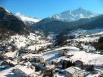 Rakouské městečko Sölden v zimě
